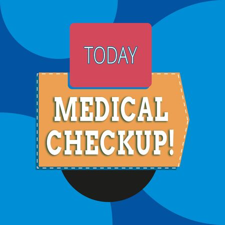 Writing note showing Medical Checkup. Business concept for thorough physical examination includes variety of tests Blank rectangle above another zigzag upwards increasing sale