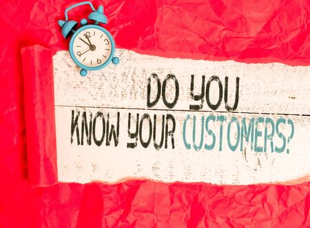 Photo for Writing note showing Do You Know Your Customers question. Business concept for asking to identify a customer s is nature - Royalty Free Image