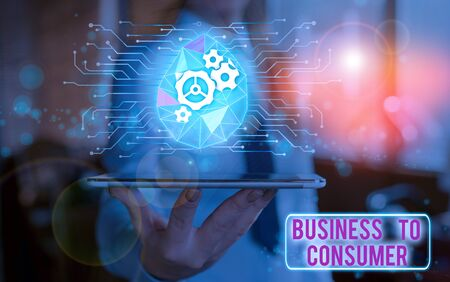 Foto de Handwriting text Business To Consumer. Conceptual photo Direct Transaction between a Company and end users - Imagen libre de derechos
