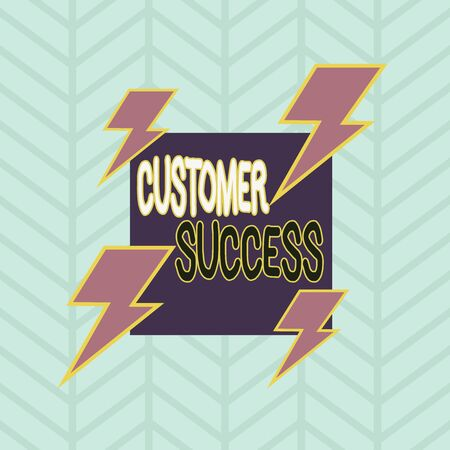 Photo pour Conceptual hand writing showing Customer Success. Concept meaning customers achieve desired outcomes while using your product Asymmetrical format pattern object outline multicolor design - image libre de droit