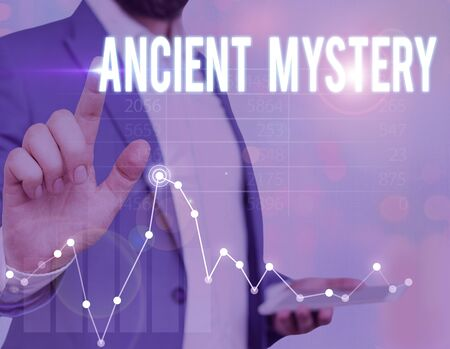 Photo for Word writing text Ancient Mystery. Business photo showcasing anything that is kept secret or remains unexplained - Royalty Free Image