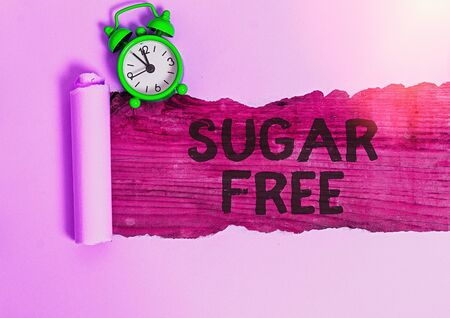 Photo pour Conceptual hand writing showing Sugar Free. Concept meaning containing an artificial sweetening substance instead of sugar - image libre de droit