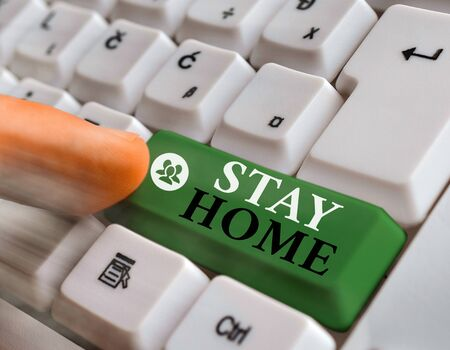 Handwriting text writing Stay Home. Conceptual photo not go out for an activity and stay inside the house or home
