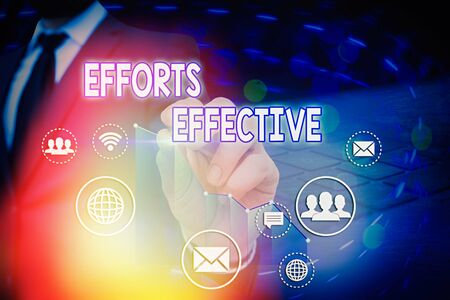 Photo pour Conceptual hand writing showing Efforts Effective. Concept meaning Produces the results as per desired Goal Target Achieve - image libre de droit