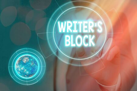 Conceptual hand writing showing Writer S Block. Concept meaning Condition of being unable to think of what to write