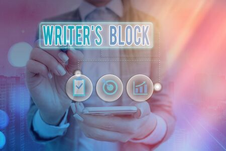 Writing note showing Writer S Block. Business concept for Condition of being unable to think of what to write