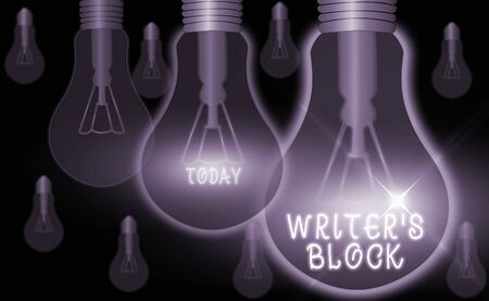Text sign showing Writer S Block. Business photo text Condition of being unable to think of what to write