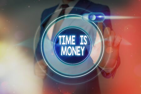 Word writing text Time Is Money. Business photo showcasing time is a valuable resource Do things as quickly as possible