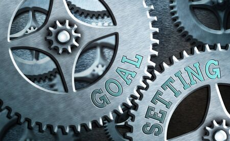Text sign showing Goal Setting. Business photo showcasing dream big motivational advice or reminder to take action