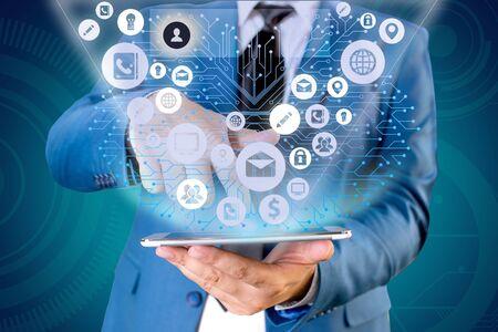 Photo pour Grids And Different Set Up Of The Icons Latest Digital Technology Concept - image libre de droit