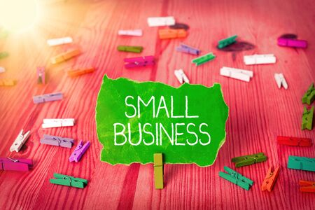 Writing note showing Small Business. Business concept for an individualowned business known for its limited size