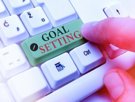 Handwriting text writing Goal Setting. Conceptual photo dream big motivational advice or reminder to take action