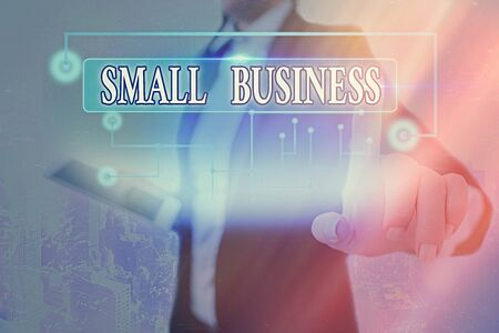 Text sign showing Small Business. Business photo text an individualowned business known for its limited size