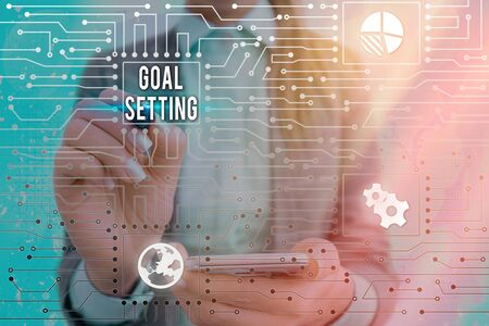 Text sign showing Goal Setting. Business photo text dream big motivational advice or reminder to take action