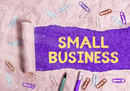Conceptual hand writing showing Small Business. Concept meaning an individualowned business known for its limited size
