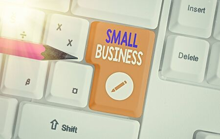 Word writing text Small Business. Business photo showcasing an individualowned business known for its limited size