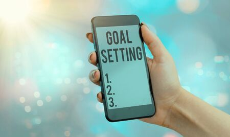 Handwriting text Goal Setting. Conceptual photo dream big motivational advice or reminder to take action