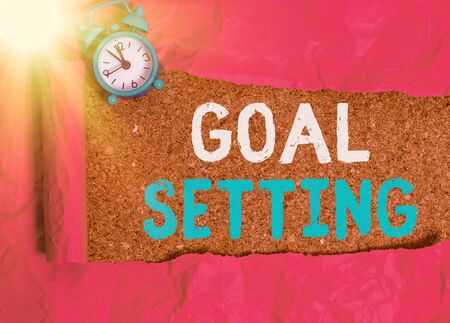 Conceptual hand writing showing Goal Setting. Concept meaning dream big motivational advice or reminder to take action