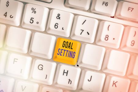 Word writing text Goal Setting. Business photo showcasing dream big motivational advice or reminder to take action