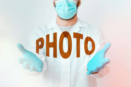 Handwriting text photo. Conceptual photo defined as produced by light, image taken with the help of light. Laboratory Technician Featuring Empty Sticker Paper Accessories Smartphone