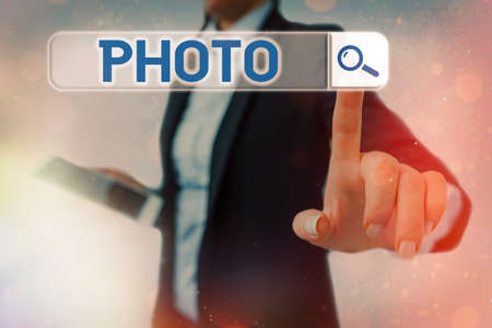 Conceptual hand writing showing photo. Concept meaning defined as produced by light, image taken with the help of light. Web search digital futuristic technology network connection