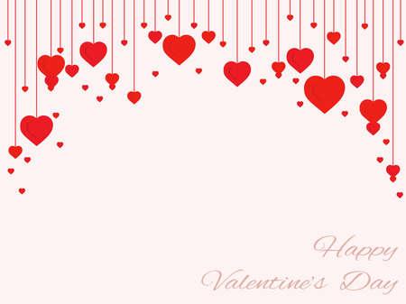 Illustration pour background of hearts on the filaments Valentine's Day - image libre de droit