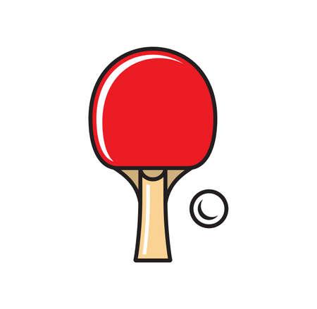 Illustration pour Vector illustration of the table tennis concept - image libre de droit