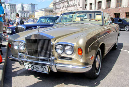 MOSCOW, RUSSIA - JUNE 2  English motor car Rolls-Royce Corniche competes at the annual L U C  Chopard Classic Weekend Rally on June 2, 2013 in Moscow, Russia