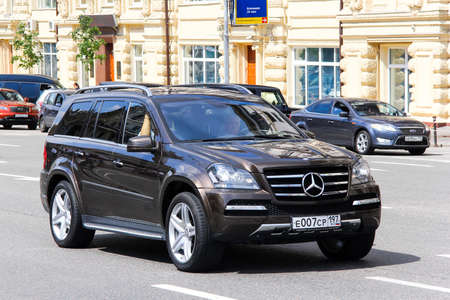 MOSCOW, RUSSIA - JUNE 2, 2013: Motor car Mercedes-Benz X164 GL-class at the city street.