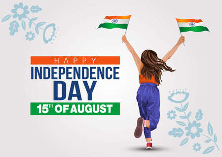 calligraphy, august, event, holiday, lettering, grunge, concept, card, illustration, culture, national, freedom, background, celebration, day, independence, country, indian, patriotism, republic, patr