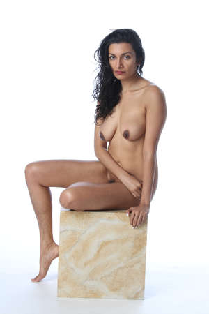 Photo pour Photoshoot of a nude indian model - image libre de droit