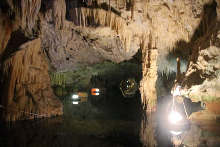 Caves of Diros in  province of Mani