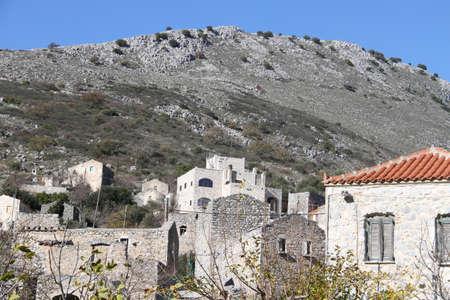 Town of Pyrichos in Mani, Greece