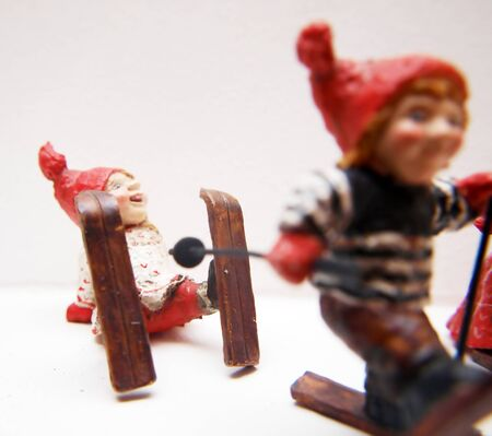 Funny looking Christmas decoration dolls, porcelain and handcrafted