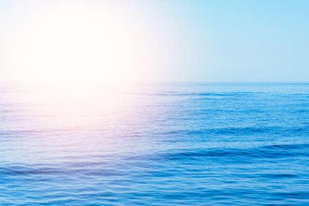 Photo pour beautiful sunset or sunrise waves on the beach. blue sky and calm empty beach landscape. - image libre de droit