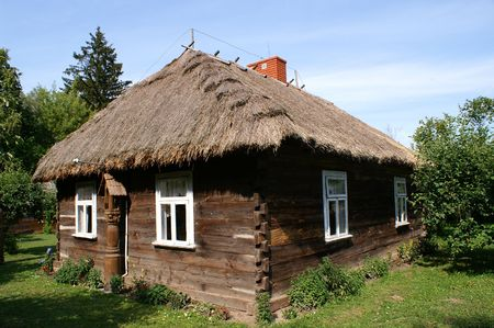 Very old cottage with wood from Poland