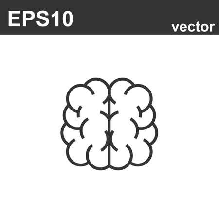 Illustration pour Brain Icon. Simple vector outline illustration design of human body part. Human mind - image libre de droit