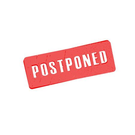 Illustration pour Postponed sign or stamp on white background, vector illustration - image libre de droit