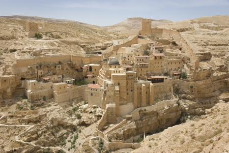 the ancient monastery of Mar Sabas in the Israeli Judean desert is about 1500 years old