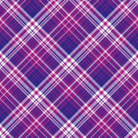 Illustration pour Seamless pattern in bright violet, purple and white colors for plaid, fabric, textile, clothes, tablecloth and other things. Vector image. 2 - image libre de droit