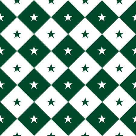 Star Green White Chess Board Diamond Background Vector