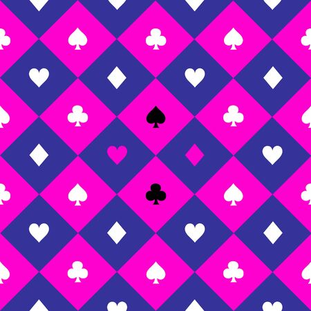 Card Suits Cosmos Purple Blue Pink Chess Board Diamond