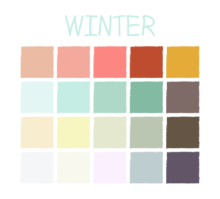 Illustration for Winter Color Tone without Code. Vector Illustration. - Royalty Free Image