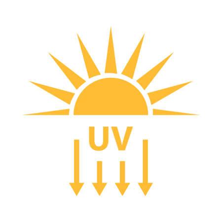 Illustration for UV radiation icon vector solar ultraviolet light symbol for graphic design, logo, web site, social media, mobile app, ui illustration. - Royalty Free Image