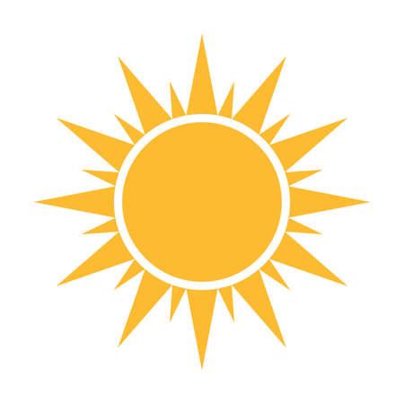 Illustration for Sun flat icon vector. Summer pictogram. Sunlight symbol. for website design, web button, mobile app illustration - Royalty Free Image