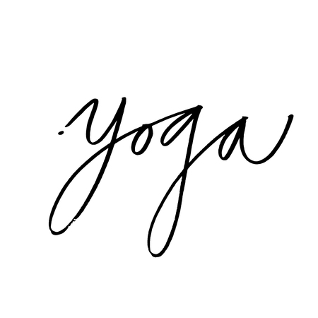 Hand Lettering Yoga Logo Letters Can Be Printed On Greeting Cards Paper And Textile
