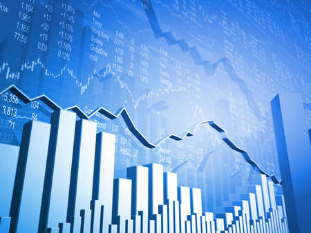 Financial Stock Market Data Blue Background