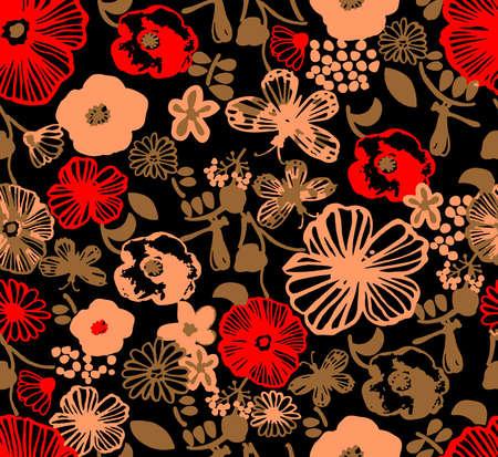 Illustration pour Elegant floral pattern. - image libre de droit