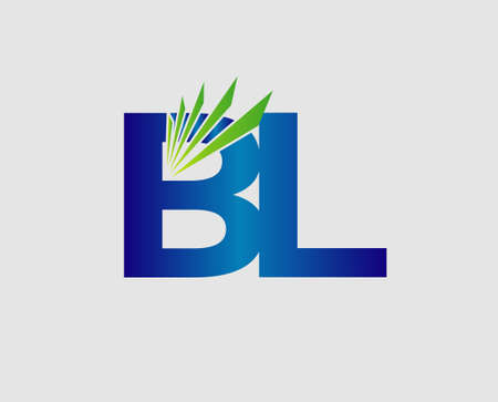 Letter B and L vector