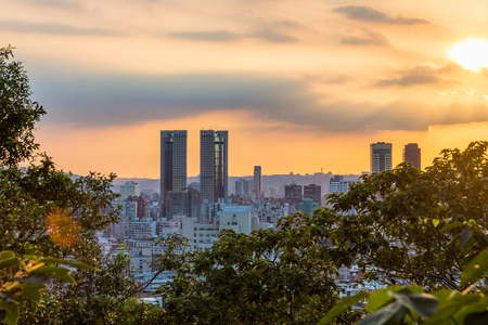 View of Taipei during sunset from Elephant mountain